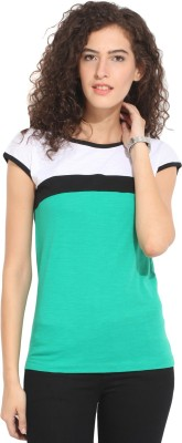 Hook & Eye Casual Short Sleeve Solid Women's Multicolor Top