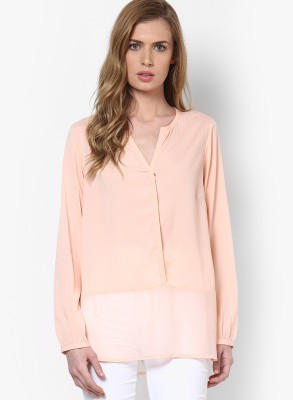 Only Casual Full Sleeve Solid Women's Pink Top