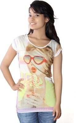 Canoe Casual, Beach Wear Cap sleeve Graphic Print Women's Multicolor Top