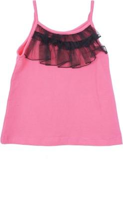 Kidzblush Casual Sleeveless Solid Girl's Pink, Black Top