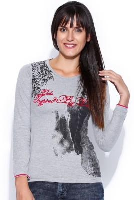 Duke Stardust Casual Full Sleeve Printed Women's Grey Top