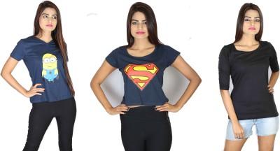 Fashion Fakir Casual Short Sleeve, Sleeveless Printed Women's Multicolor Top