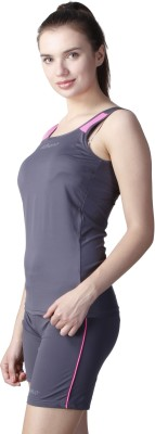 Atheno Casual Sleeveless Solid Women's Grey Top