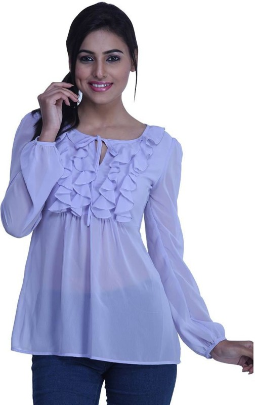 Orous Casual Full Sleeve Solid Women's Purple Top