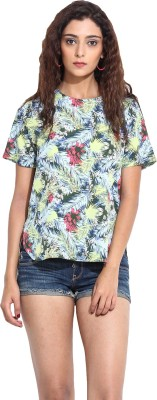 Pera Doce Casual Short Sleeve Printed Women,s Multicolor Top
