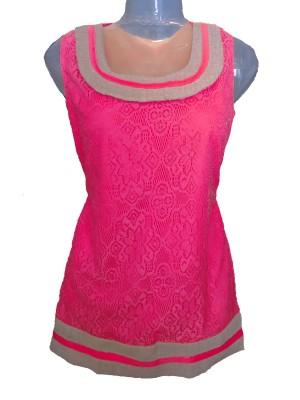 Jhumri Casual Short Sleeve Floral Print Girl's Orange Top