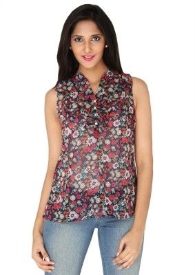 AATMIK Casual Sleeveless Printed Women's Multicolor Top