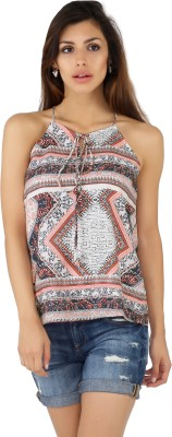 20Dresses Casual Sleeveless Printed Women's Multicolor Top