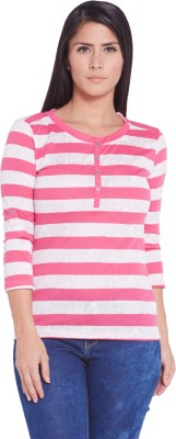 Globus Casual 3/4 Sleeve Striped Women's Multicolor Top