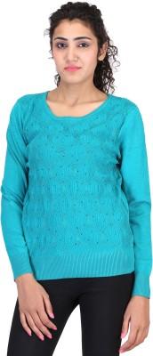 Sheezworld Casual Full Sleeve Self Design Women's Green Top