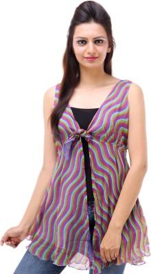 Avon Apparels Casual Sleeveless Printed Women's Purple Top