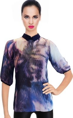 BeforeAfter Casual 3/4 Sleeve Printed Women's Multicolor Top