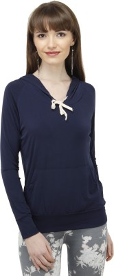 Pab Jules Casual Full Sleeve Solid Women's Blue Top