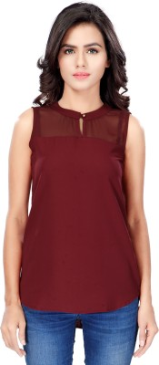 SFDS Casual, Formal, Party Sleeveless Solid Women's Purple Top