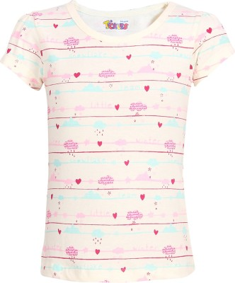 Miss Alibi by Inmark Casual Puff Sleeve Printed Girl's Multicolor Top