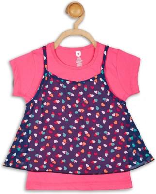 612 League Casual Cap sleeve Printed Girl's Pink Top