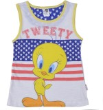 Tweety Top For Girls Casual Cotton Tank ...