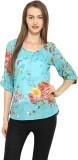 Free & Young Casual 3/4th Sleeve Floral ...