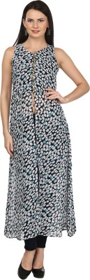 M&F Casual Sleeveless Printed Women's Multicolor Top