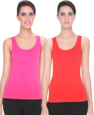Channel Nine Casual Sleeveless Solid Women's Multicolor Top