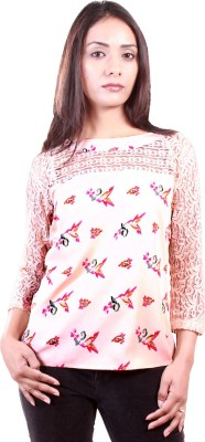 AR2 Party 3/4 Sleeve Printed Women's Pink Top