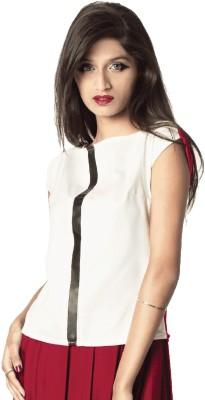 WeGetOn Casual, Wedding, Party, Festive, Lounge Wear Cap sleeve Solid Women's Red Top