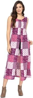 Abiti Bella Party Sleeveless Geometric Print Women's Pink Top