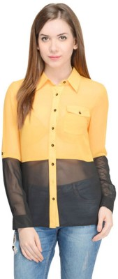 Oranje Casual Full Sleeve Solid Women's Black Top