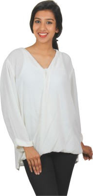 Old Khaki Casual Full Sleeve Solid Women's White Top