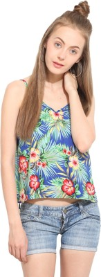Lucero Casual Sleeveless Printed Women's Multicolor Top
