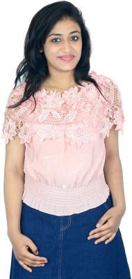 Shopaholic Fashion Casual Short Sleeve Printed Women's Pink Top