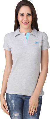 Yati Casual Short Sleeve Solid Women's Grey Top