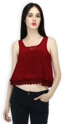 20Dresses Lounge Wear Sleeveless Solid Women's Maroon Top