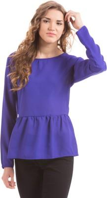 Prym Casual Full Sleeve Self Design Women's Blue Top