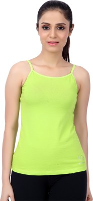 Restless Sports, Casual Sleeveless Solid Women's Light Green Top