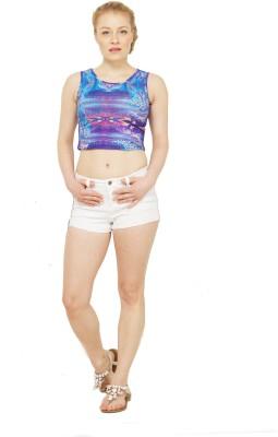 Disciple Casual, Party, Beach Wear Sleeveless Self Design Women's Multicolor Top