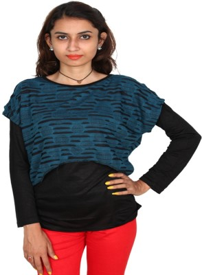 Vanya Enterprises Casual Full Sleeve Solid Women's Blue, Black Top