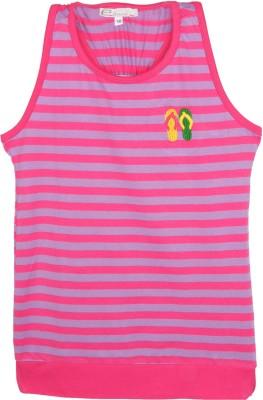 Eimoie Casual Sleeveless Striped Girl's Pink, Purple Top