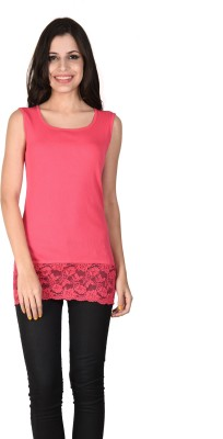 Latin Quarters Formal Sleeveless Solid Women,s Pink Top