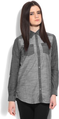 Monica Dogra for Stylista Casual Full Sleeve Solid Women's Grey Top