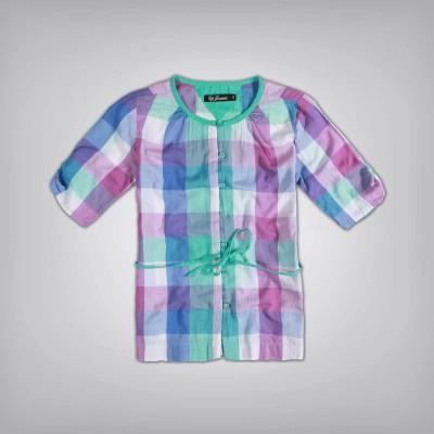 Gini & Jony Casual Short Sleeve Printed Girl's Multicolor Top
