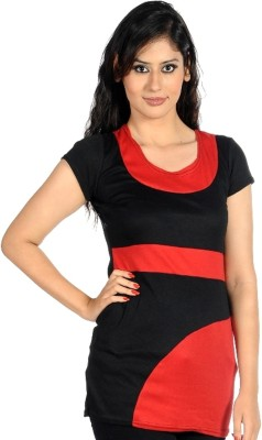Hugo Chavez Casual Short Sleeve Solid Women's Red Top