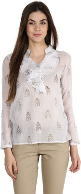 La Zoire Formal, Casual, Party Full Sleeve Floral Print Women's White Top