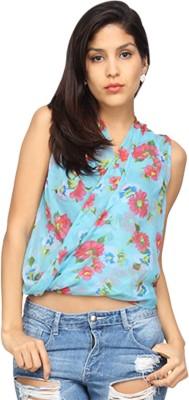 Americanlaundry Casual Sleeveless Printed Women's Blue Top