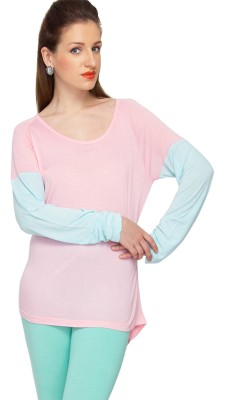 Amari West Casual Full Sleeve Solid Women's Pink Top