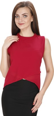Svt Ada Collections Party Sleeveless Solid Women's Maroon Top