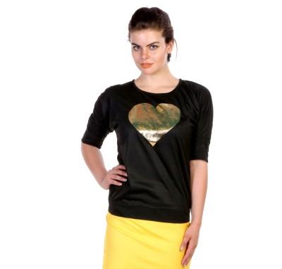 James Scot Lounge Wear Short Sleeve Solid Women's Black Top