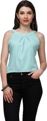 Eavan Casual Sleeveless Solid Women's Light Green Top