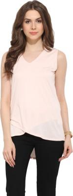 Leo Sansini Casual Sleeveless Solid Women's Pink Top