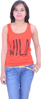 Krazzy Collection Casual Sleeveless Solid Women,s Red Top